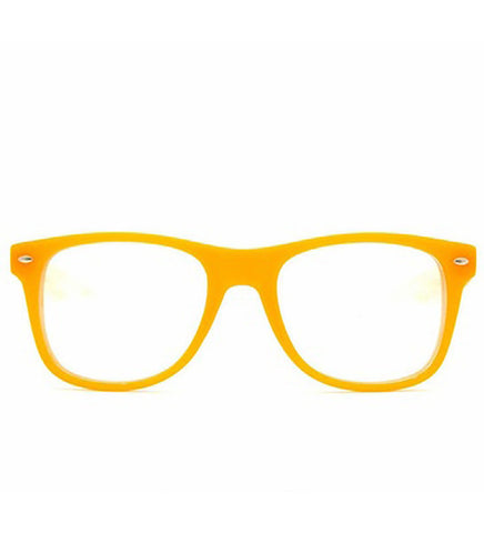 Spiral Lens - Orange Clear Spiral Wayfarer Diffraction Glasses