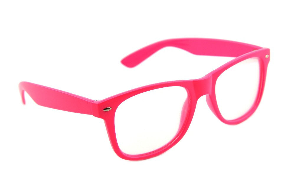 Pink Clear Spiral Diffraction Glasses - SuperFried