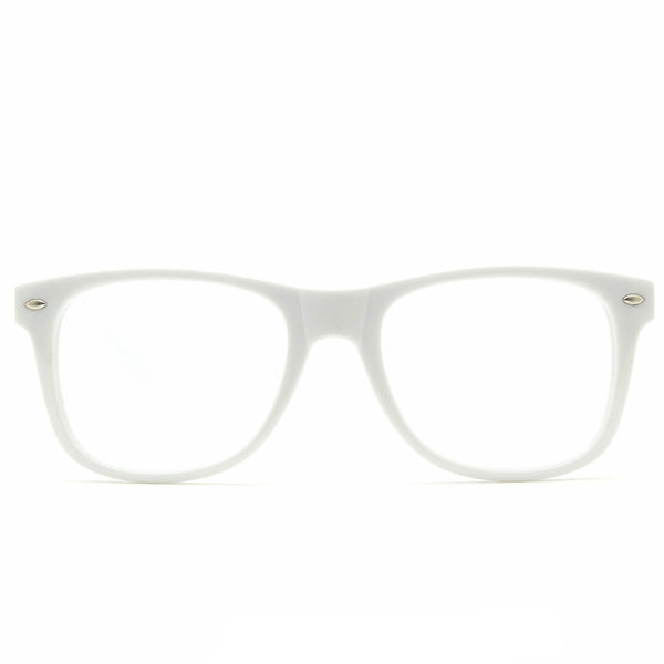 Spiral Lens - White Spiral Wayfarer Diffraction Glasses