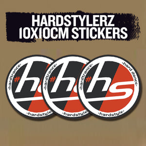 Hardstylerz 10x10cm Round Stickers (3-Pack) - SuperFried