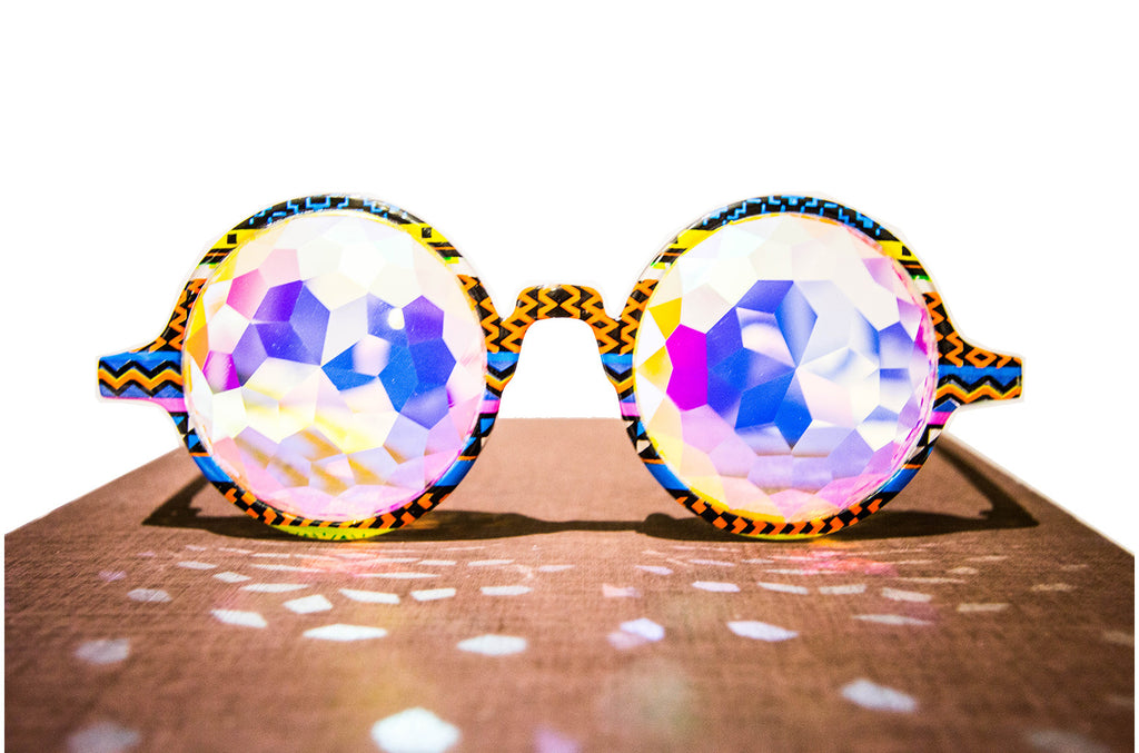 Tribal Diamond Kaleidoscope Glasses