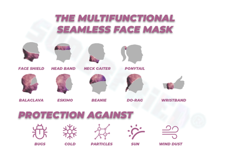 Different ways to use SuperFried Multi-functional Seamless Rave Face Mask