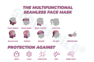 Mini Screams Seamless Mask Bandana