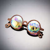 kaleidoscope prism glasses kaleidoscope len prism visuals glasses party eyewear bug eye diamond portal enhance effects drugs wood
