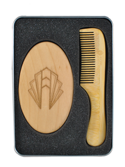 Adonis Americana Bamboo Beard Brush and Comb Tin Set