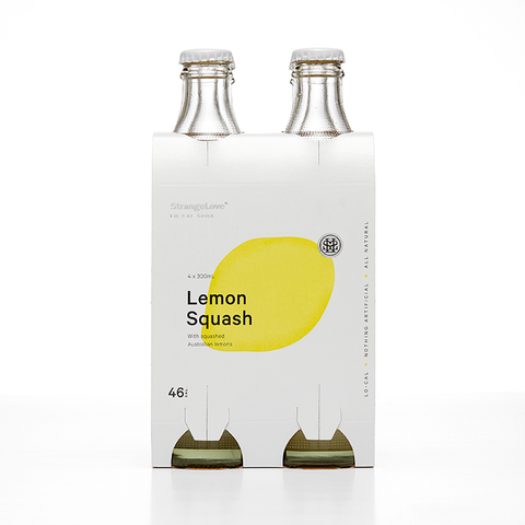 Lemon Squash Low Cal Soda by Strangelove