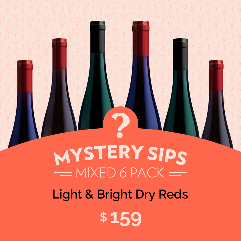 Mystery Sips Mixed 6 pack - Light & Bright Dry Reds