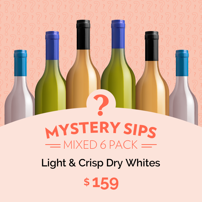 Mystery Sips Mixed 6 pack - Light & Crip Dry Whites