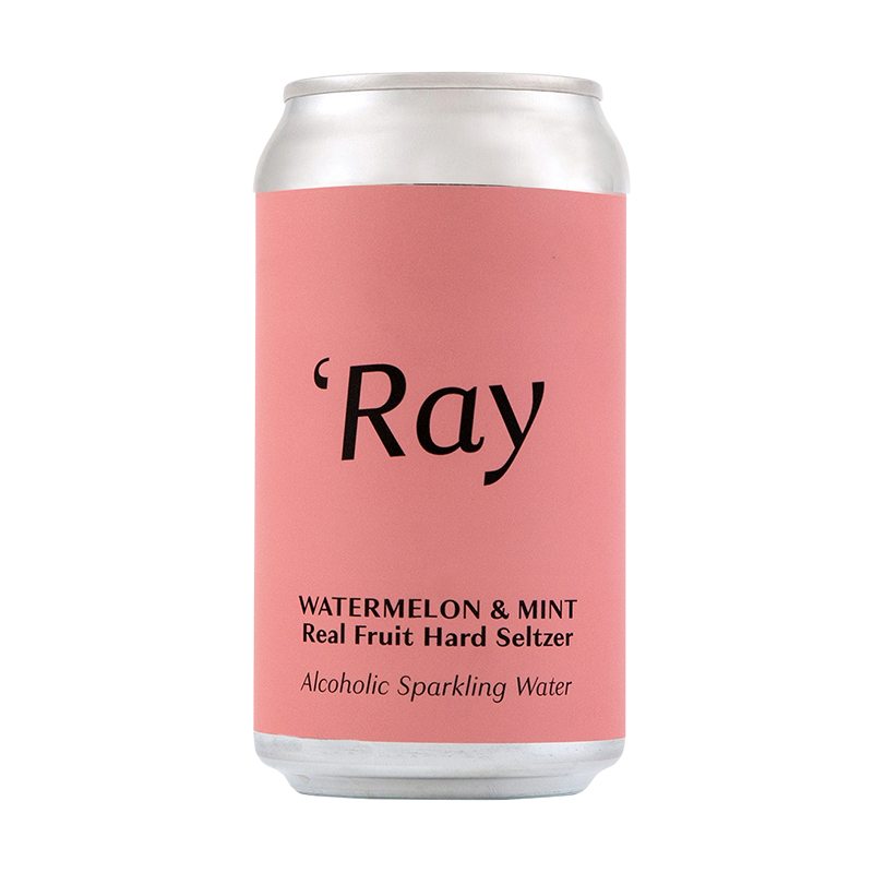 Ray Hard Seltzer Watermelon and Mint