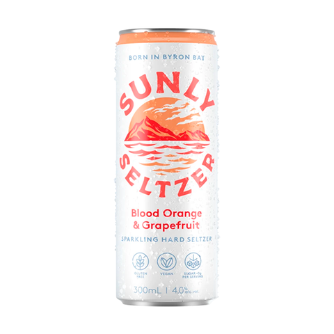 Sunly Seltzer Blood Orange and Grapefruit