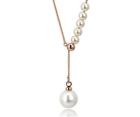 rose gold ariel pearl necklace