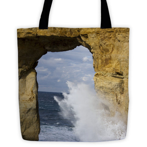 Maltese Azure Window Tote bag - Pzella Accessories nickel free jewellery