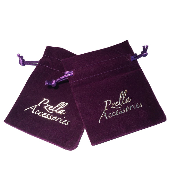 Purple Pouches - Pzella Accessories nickel free jewellery