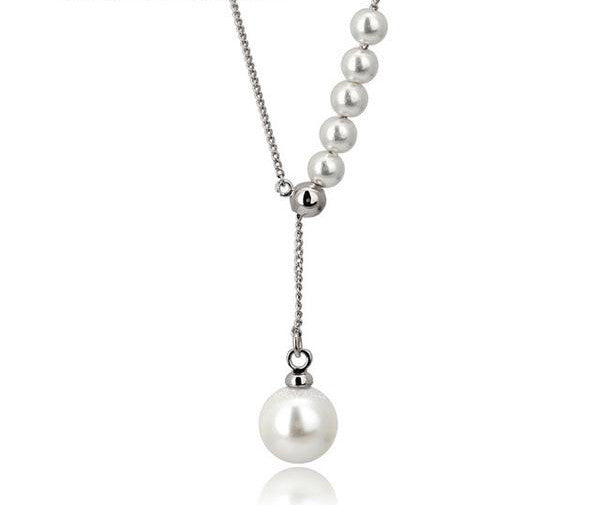 platinum silver white gold ariel pearl necklace