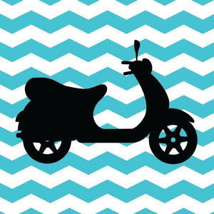L&L Blue Scooter - Personalised Gift Card