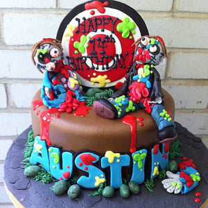 birthday cake designs paintball