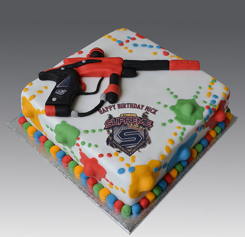 Paintball Birthday Cake at San Diego Paintball Park