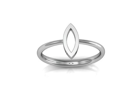 Marquise Outline Ring, Arctic Fox