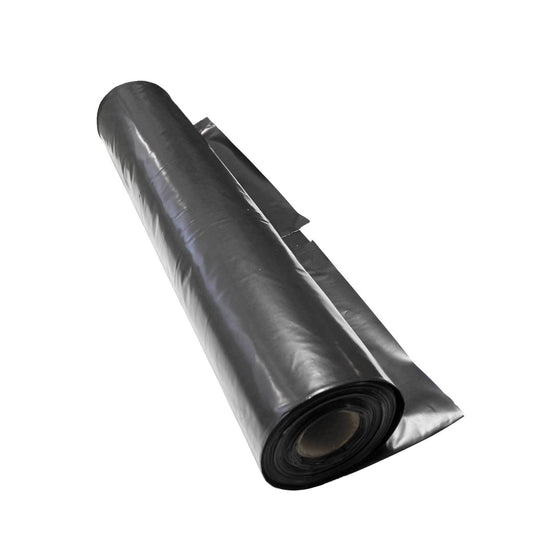 Polythene Film - Heavy Duty, 200um x 4m x 25m - Black