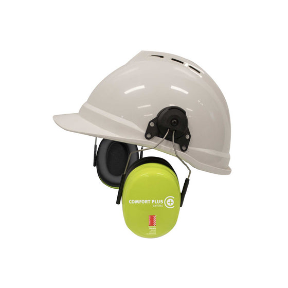 Earmuff, Safety+ Comfort Plus Series, Helmet Attached - Class 5