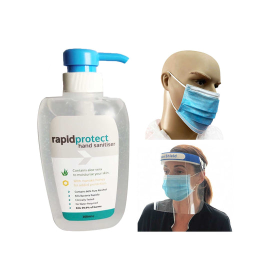 Personal Hygiene Pack Hand Sanitiser Face Mask Face Shield