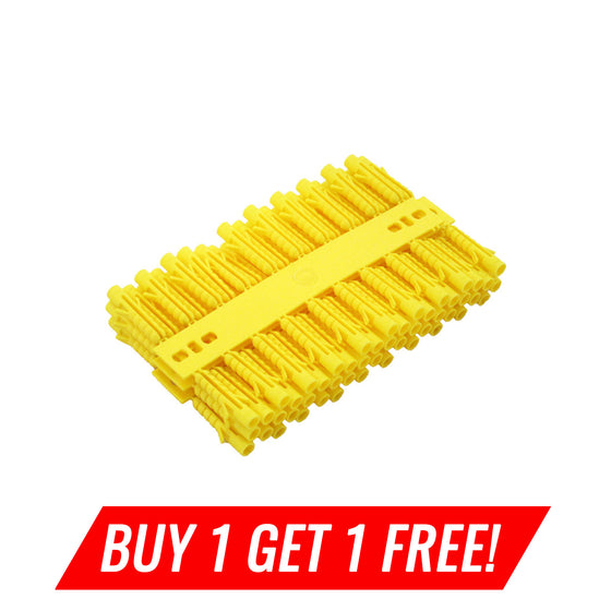 Plastic Wall Plugs, 5mm Yellow, 100pcs Buy 1 Get 1 Free