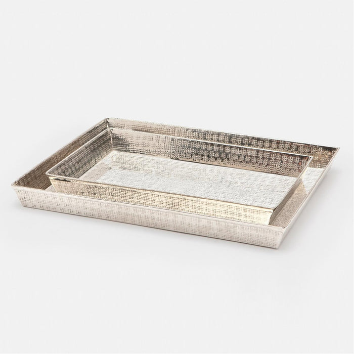 Pigeon and Poodle Buren Rectangular Tray - Tapered, 2-Piece Set