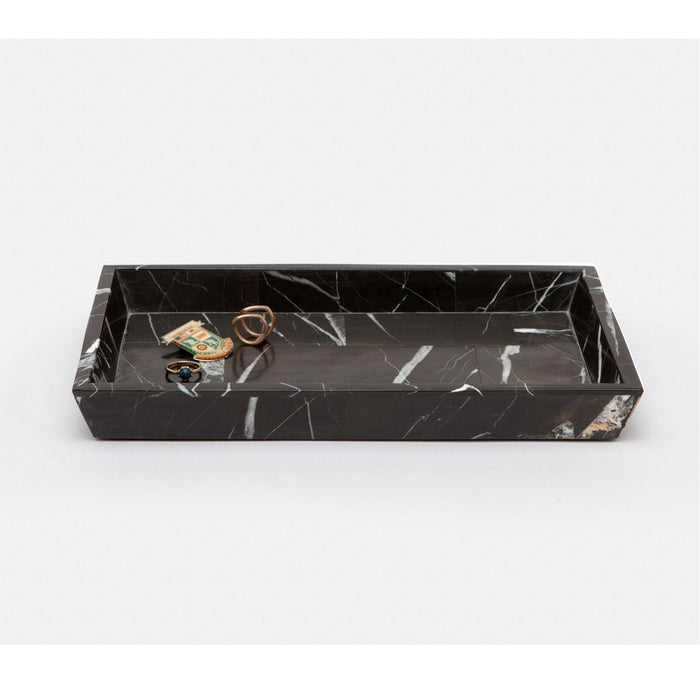 Pigeon and Poodle Rhodes Rectangular Nero Tray, Tapered