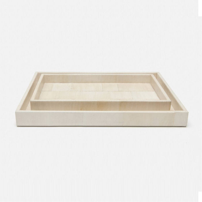 Pigeon and Poodle Samui Rectangular Tray - Straight, 2-Piece Set