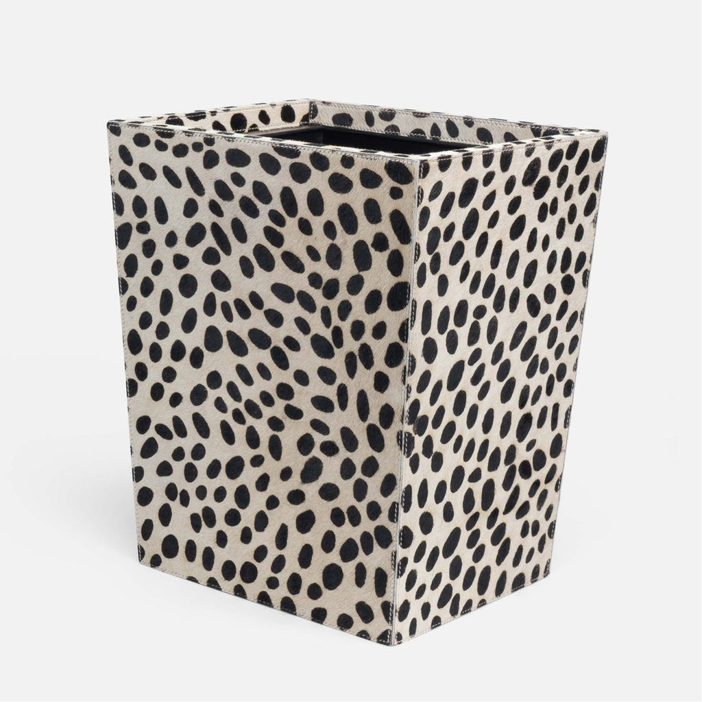 Pigeon and Poodle Lacey Rectangular Wastebasket, Tapered