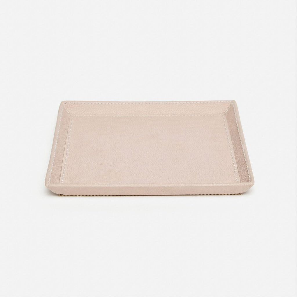 Pigeon and Poodle Marcel Full-Grain Leather Square Tray, Pack of 2