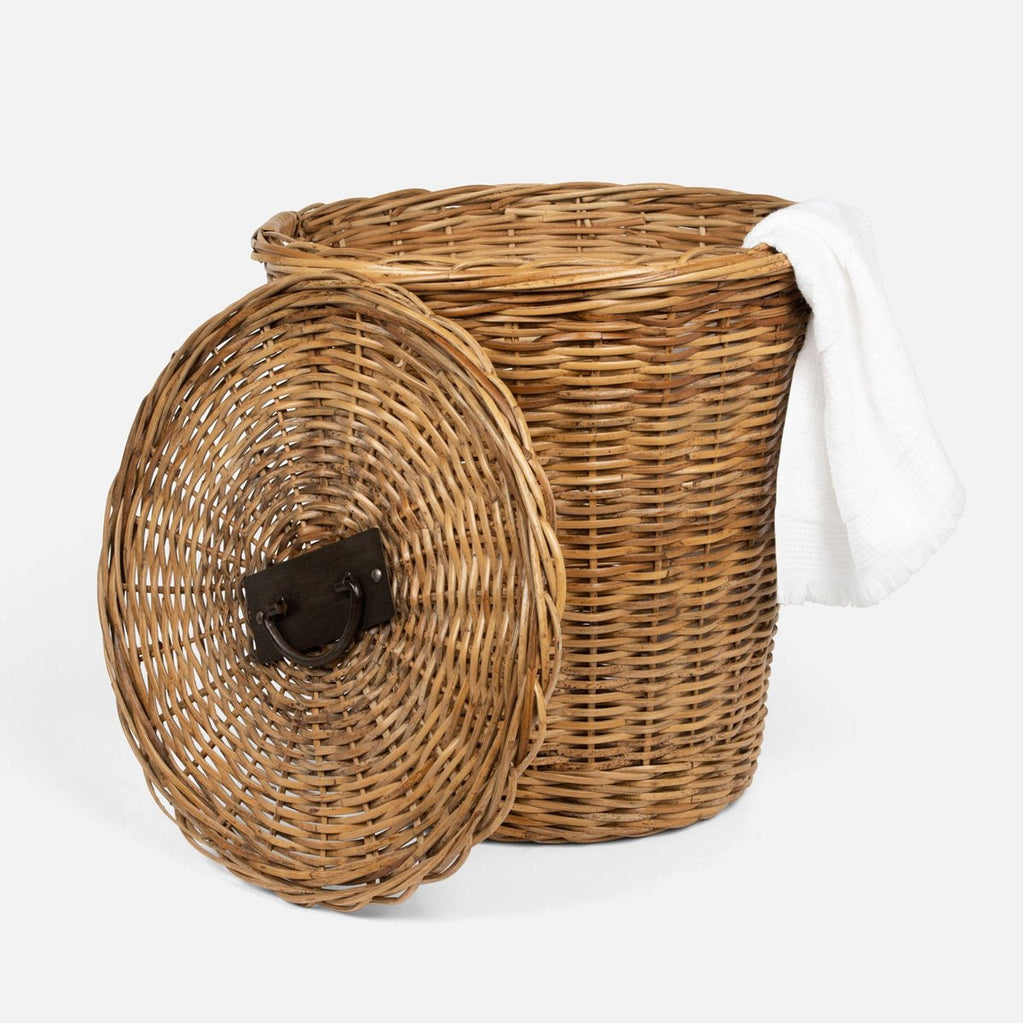 Pigeon and Poodle Lamia Round Hamper with Lid