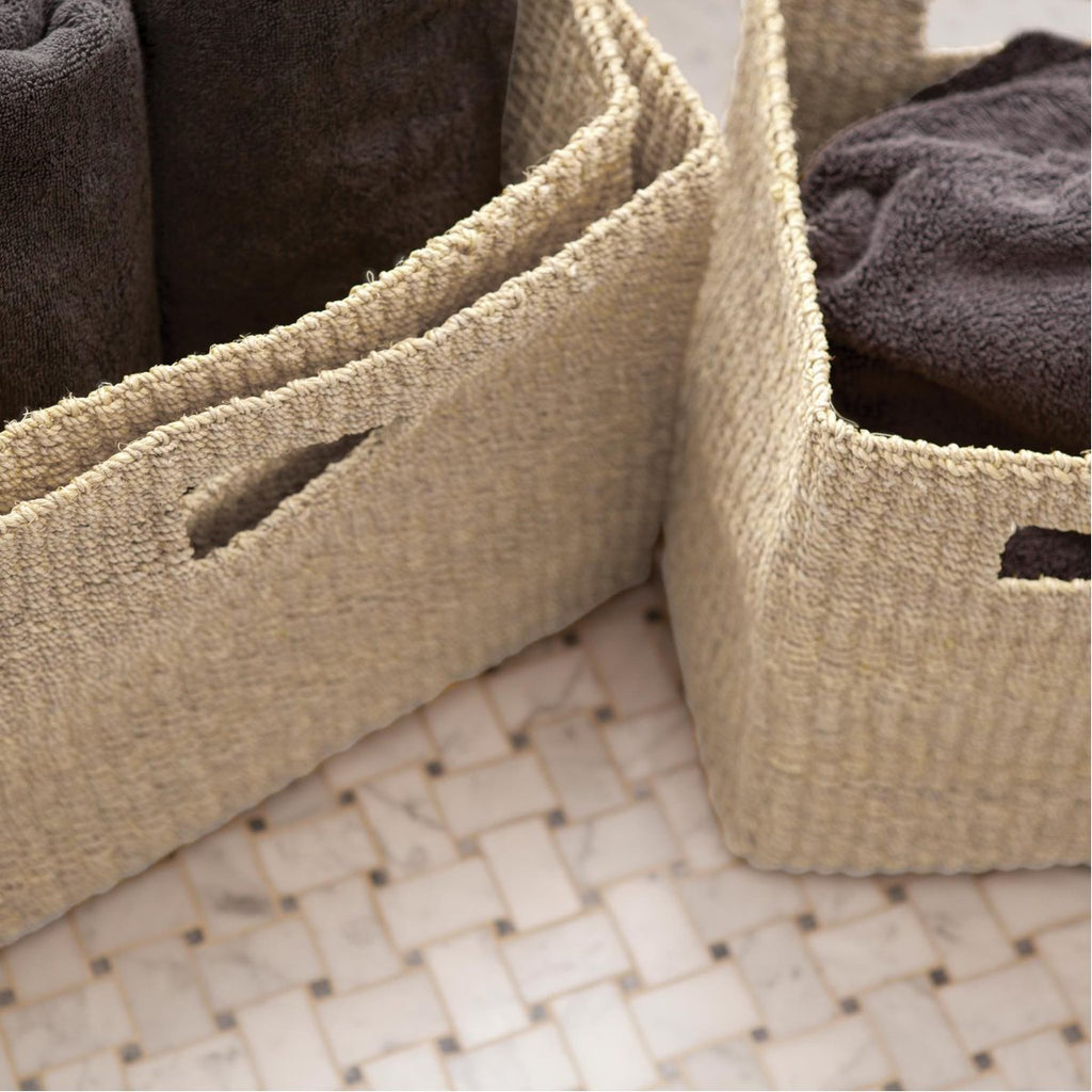 Pigeon and Poodle Lindon Square Towel Baskets, 3-Piece Set