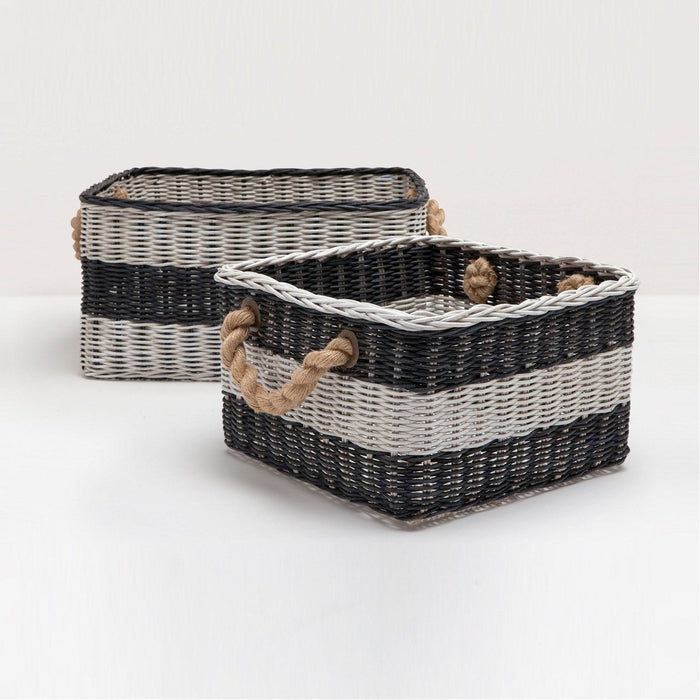 Pigeon and Poodle Nantucket Storage Baskets, 2-Piece Set