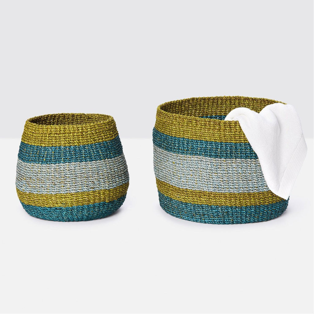 Pigeon and Poodle Samal Baskets, 2-Piece Set