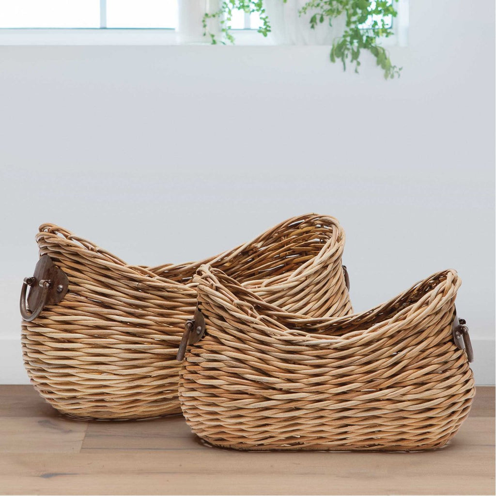 Pigeon and Poodle Varna Organic Shaped Storage, 2-Piece Set