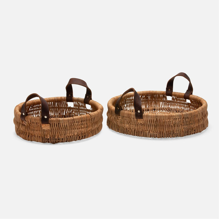 Pigeon and Poodle Yakima Round Baskets, 2-Piece Set