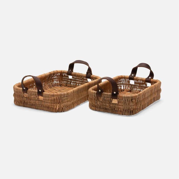 Pigeon and Poodle Yakima Rectangular Baskets, 2-Piece Set