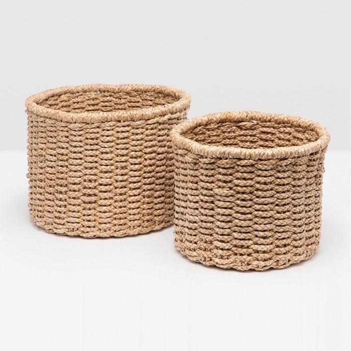 Pigeon and Poodle Yuma Round Baskets, 2-Piece Set