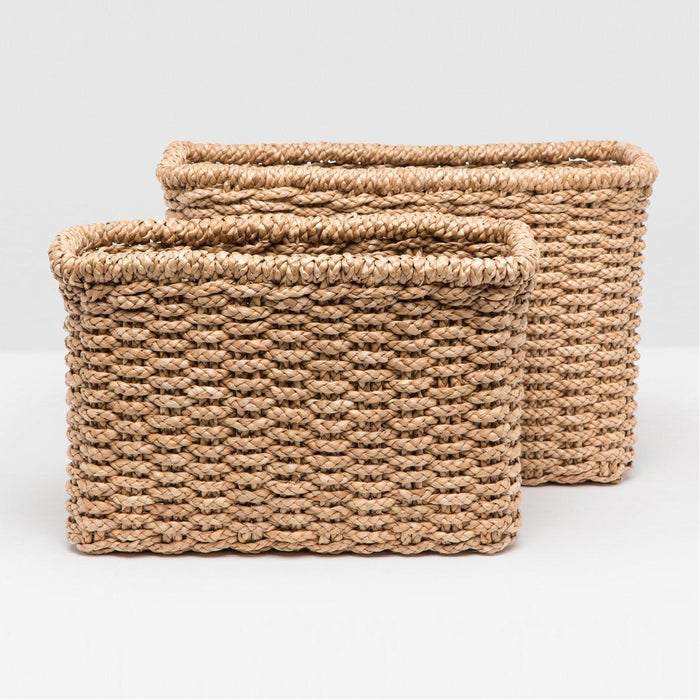 Pigeon and Poodle Yuma Rectangular Baskets, 2-Piece Set