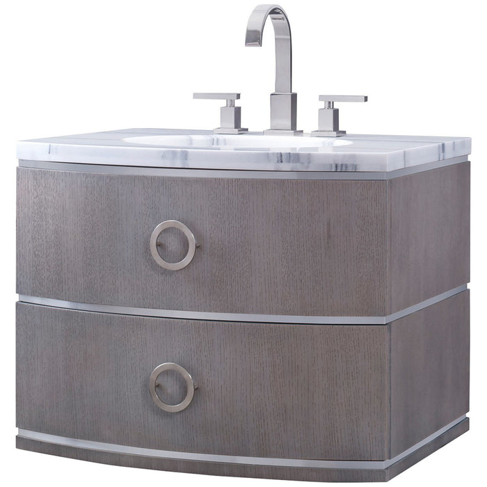 Ambella Home Cirque Wall Sink Chest - Grey