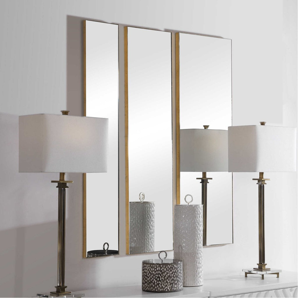 Uttermost Rowling Gold Mirrors, 3-Piece Set