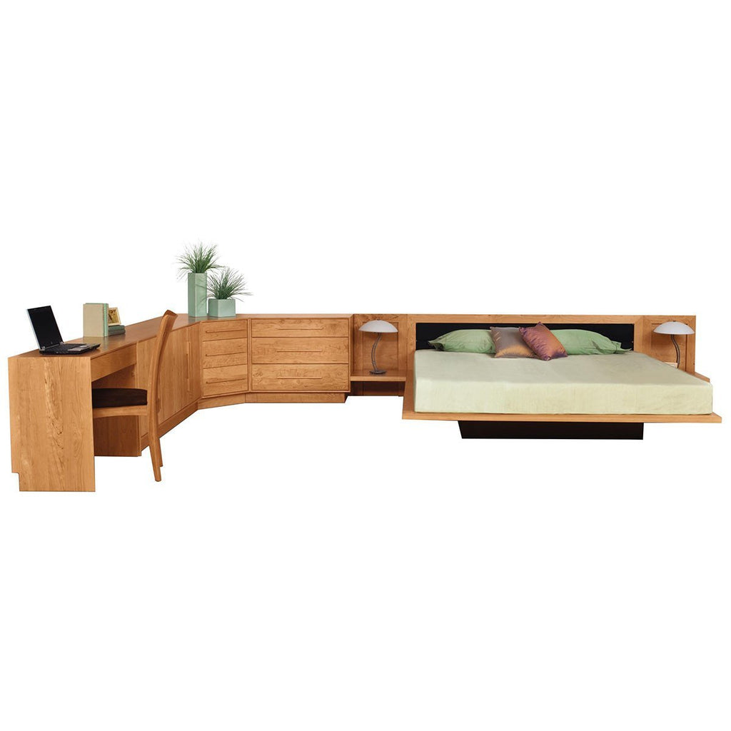 Copeland Furniture Moduluxe Bedroom Conventional Bed in Natural Walnut