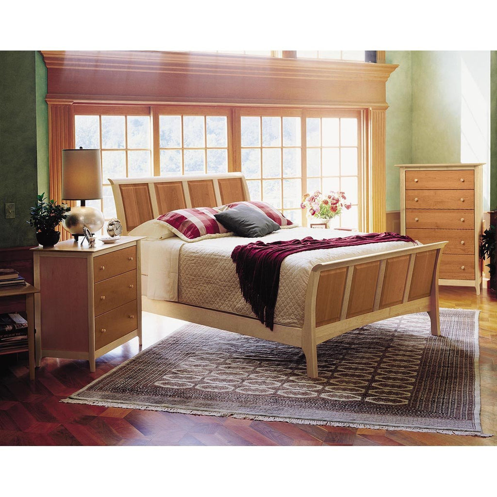 "Copeland Furniture Sarah Sleigh 45"" Beds with High Footboard"