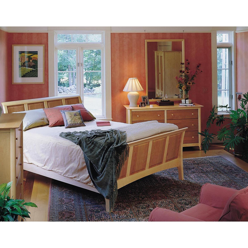 "Copeland Furniture Sarah Sleigh 51"" Beds with High Footboard"