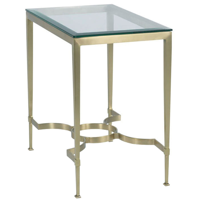 Woodbridge Furniture Satin Brass Martini Table