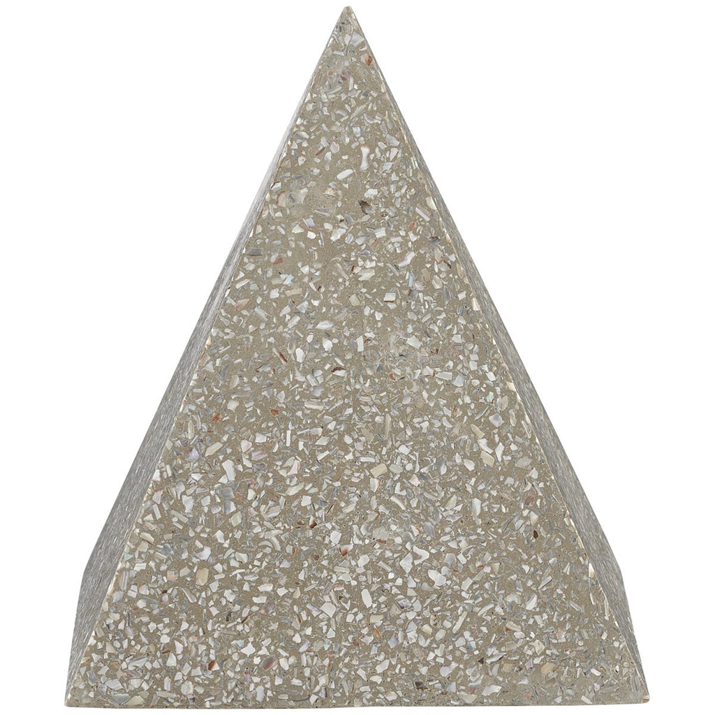 Currey and Company Abalone Large Concrete Pyramid