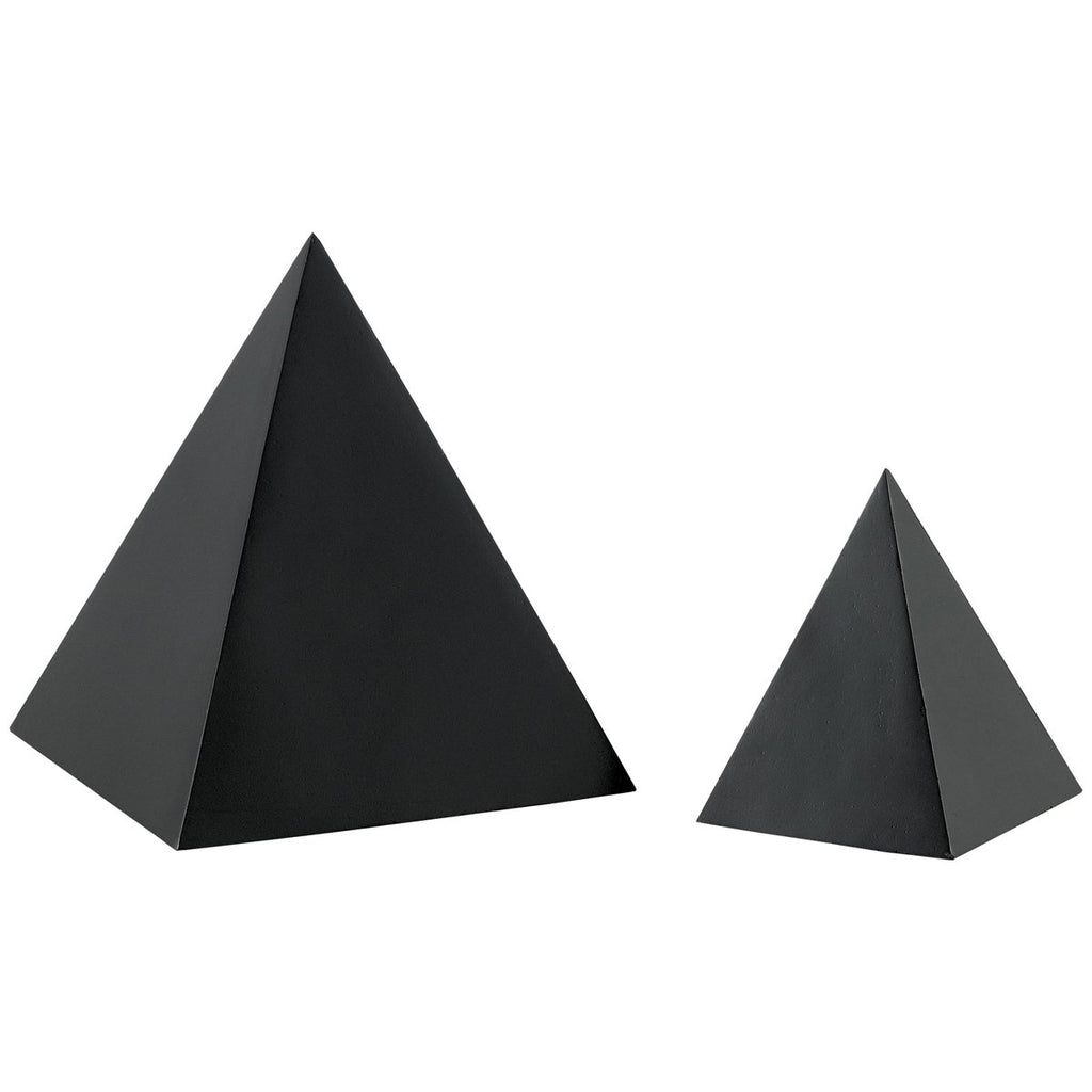 Currey and Company Black Large Concrete Pyramid