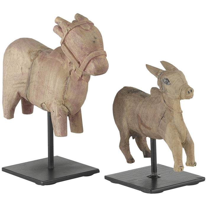 Currey and Company Nandi Cow, Set of 2