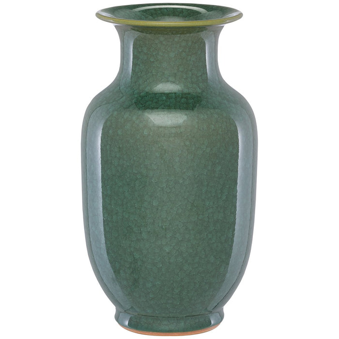 Currey and Company Karoo Small Crystalized Green Vase